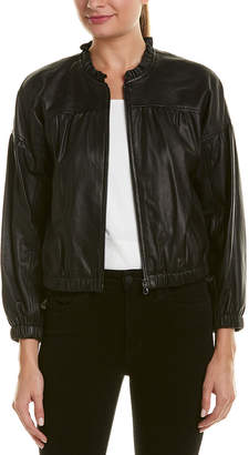 Rebecca Taylor Leather Bomber Jacket