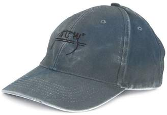 A-Cold-Wall* distressed logo embroidered cap