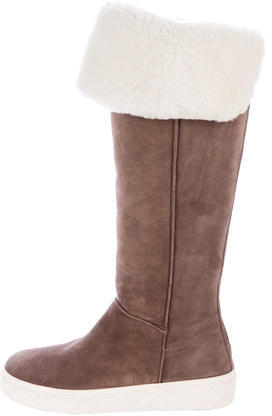 Moncler Moncler Shearling Over-The-Knee Boots