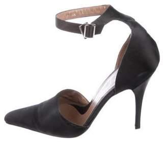 Gucci Satin Ankle-Strap Pumps Black Satin Ankle-Strap Pumps