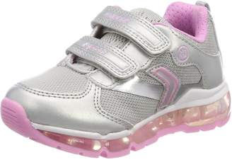 Geox Girl's J Android Girl Sneakers, Silver/Pink
