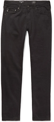 AG Jeans Stockton Skinny-Fit Brushed Stretch-Cotton Trousers - Men - Black