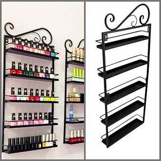Gowind7 Nail Polish Shelf, Nail Polish Holder Varnish Retail Acrylic Stand Display Rack Holder Wall Mounted