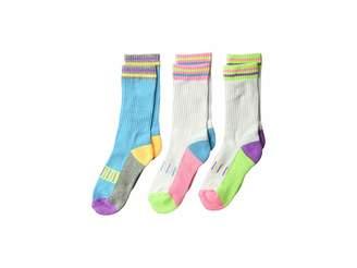 Jefferies Socks Pastel Neon Sporty Crew 3-Pack (Toddler/Little Kid/Big Kid)