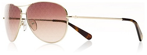 Tory Burch Gold Aviator Sunglasses