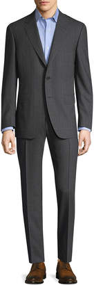 Canali Buttoned Sleeve Cuffs Suit