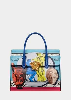 Versace Magna Grecia Pop Blue Palazzo Empire Bag