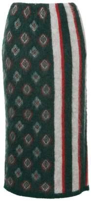 Coohem Shaggy jacquard skirt