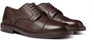 Brunello Cucinelli Cap-Toe Full-Grain Leather Derby Shoes