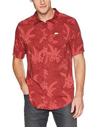 RVCA Men's AR Hawaiian Short Sleeve Woven Button UP Shirt