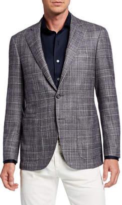 Canali Men's Kei Glen Plaid Wool-Blend Sport Coat