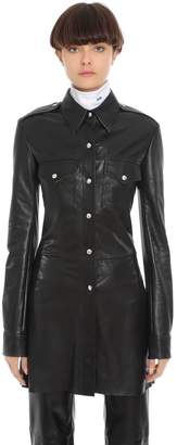 Calvin Klein Long Leather Shirt