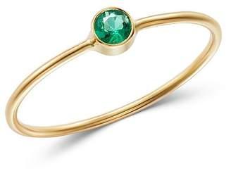 Chicco Zoë 14K Yellow Gold Emerald Bezel-Set Ring