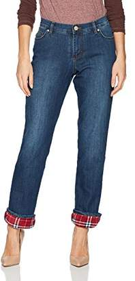 Lee Women's Fleece Lined Relaxed Straight Leg Jean