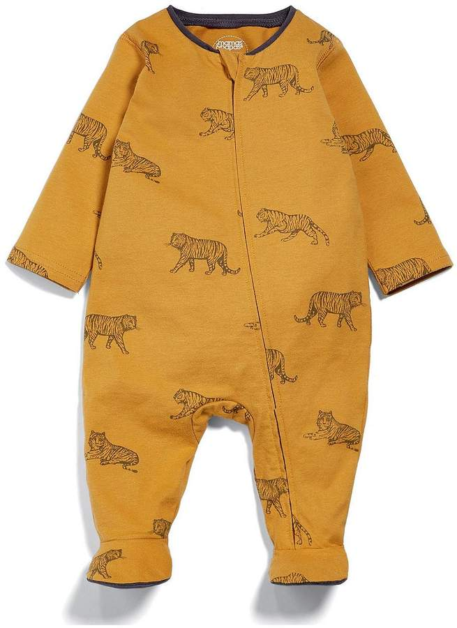 Baby Boys Tiger Zip All In One