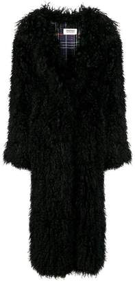 Yves Salomon Meteo lamb fur overcoat