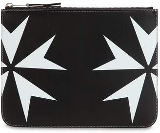 Neil Barrett Printed Stars Leather Pouch