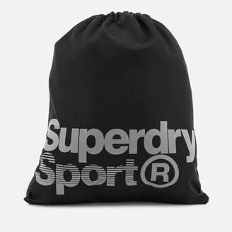 Superdry Sport Men's Drawstring Sports Bag - Black/Reflective