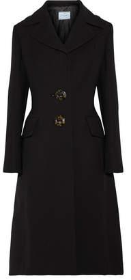 Wool-crepe Coat - Black