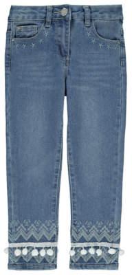 George Embroidered Denim Skinny Jeans