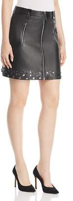 Elie Tahari Zoey Studded Leather Mini Skirt