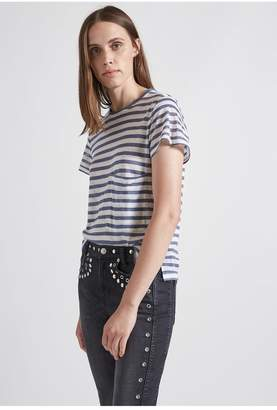 Current/Elliott The Drop Pocket Linen Tee