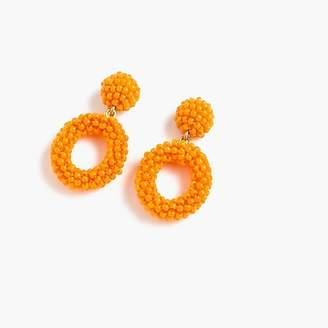 J.Crew Mini beaded drop-hoop earrings