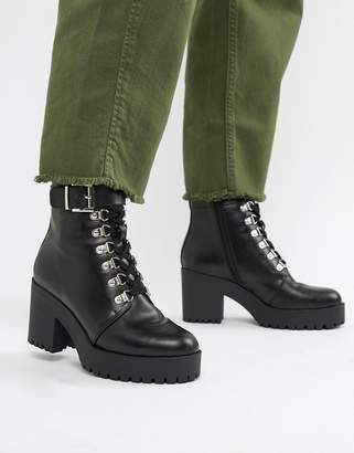 Asos DESIGN Ethan chunky hiker lace up boots