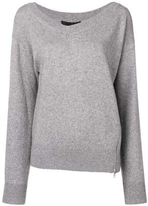 Alexander Wang twisted v-neck jumper
