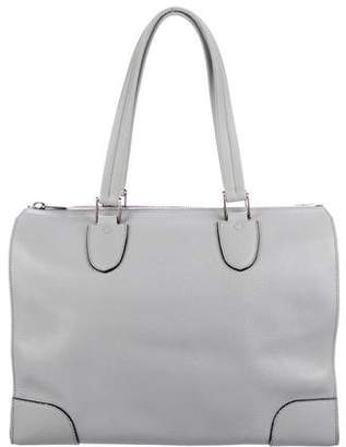 Valextra Leather Babila Tote