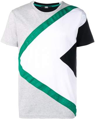 Karl Lagerfeld Paris Branded Grosgrain T-shirt