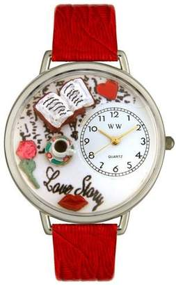 Whimsical Watches Unisex U0460003 Love Story Red Leather Watch