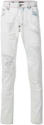Philipp Plein distressed style jeans