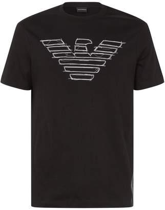 Emporio Armani Stitched Eagle T-Shirt