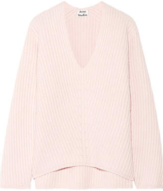 Acne Studios - Deborah Ribbed Wool Sweater - Pastel pink