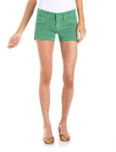 Fade To Blue Cutoff Corduroy Shorts, Spearmint