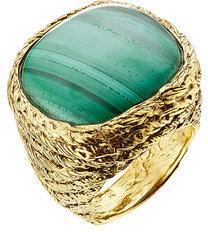 Aurelie BidermannAurélie Bidermann 18kt Gold Plated Ring with Malachit