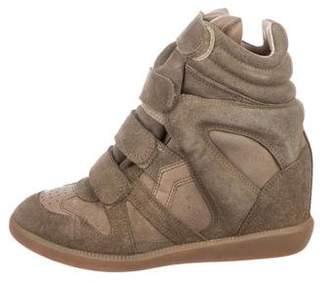 Etoile Isabel Marant Suede Wedge Sneakers