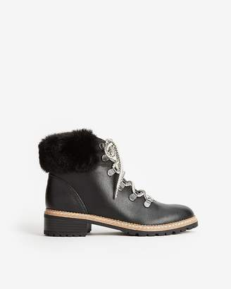 Express Faux Fur Hiker Boots