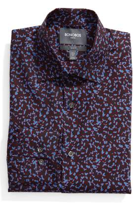 Bonobos Slim Fit Cheetah Print Dress Shirt