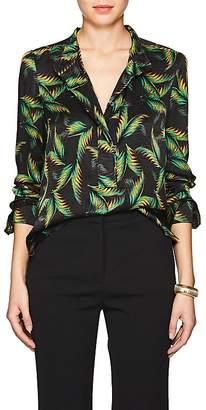 A.L.C. Women's Gosford Palm-Leaf-Print Silk Blouse