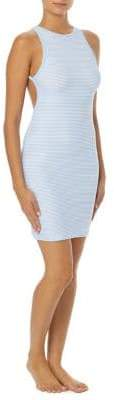 Vince Camuto Binding-Trim Open-Back Coverup Dress