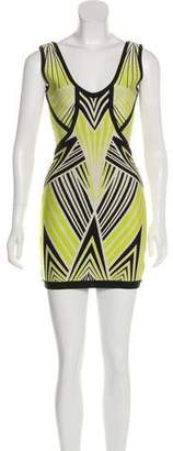 Herve Leger Sleeveless Mini Dress