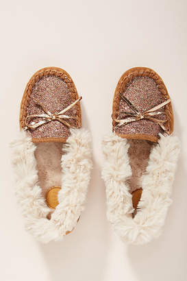 Far Away From Close Sequined Moccassin Slippers