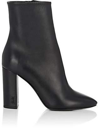 Saint Laurent Women's Loulou Leather Ankle Boots - Black