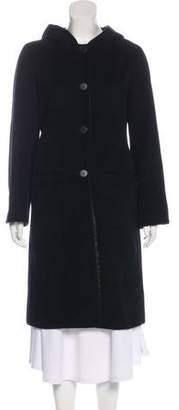 agnès b. Hooded Knee-Length Coat