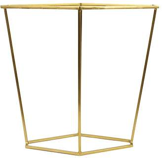 Bloomingville Metal Diamond Shaped Side Table, Brushed Gold