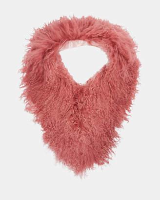 Ted Baker MYRAA Mongolian shearling scarf