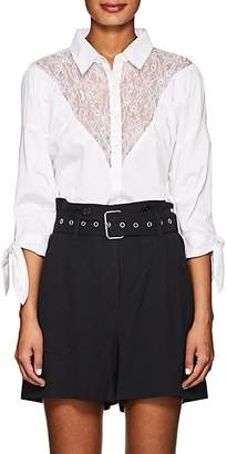 Opening Ceremony Women's Lace-Inset Cotton Blouse