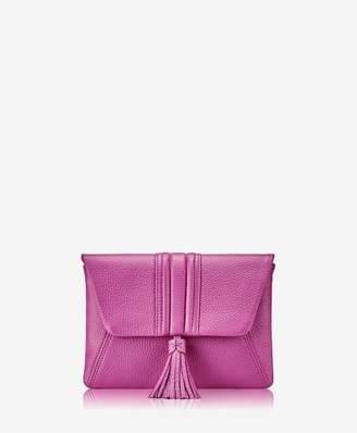 GiGi New York Ava Clutch In Azalea Pink Pebble Grain